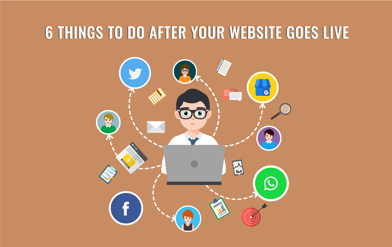 things to do after you get a website