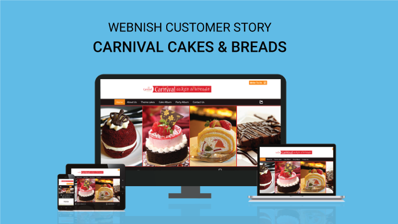 webnish cutsomer story carnival cakes and breads